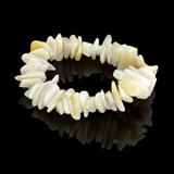 APP: 0.8k 191.00CT Natural Form Bead White Opal Bracelet