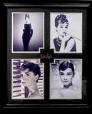 *Rare Audrey Hepburn Museum Framed Collage - Plate Signed