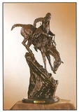 *Very Rare Small Mountain Man Bronze by Frederic Remington 11.5'''' x 5.5''''  -Great Investment- (S