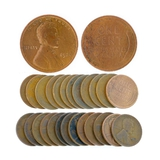 (25) Assorted 1920's Wheat Pennies Coin