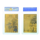 Rare Ruth/Gehrig 23kt. Gold 70th Anniversary Card Grated Gem – MT 10 – Great Investment