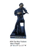 *Rare Limited Edition Numbered Bronze Chagall ''''The Blue Violinist'''' 25'''' H x 14'''' L x 11'''