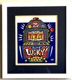 Burton Morris - ''''Slot Machine'''' Blue Framed Giclee Original Signature