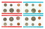 Rare US 1971 Uncirculated Mint Coins Set Great Investment