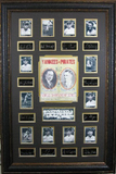 *Rare 1927 Yankees Vs. Pirates World Championship Series Museum Framed Collage - Plate Signed