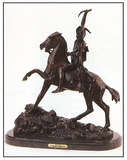*Very Rare Small Scalp Bronze by Frederic Remington 10'''' x 8.5''''  -Great Investment- (SKU-AS)
