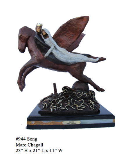 *Rare Limited Edition Numbered Bronze Chagall ''''Song'''' 23'''' H x 21'''' L x 11'''' W -Great Inv