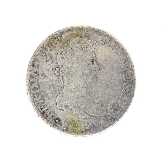 Extremely Rare 1814 Eight Reale American First Silver Dollar Coin Great Investment