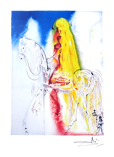 SALVADOR DALI Lady Godiva Print, 177 of 500