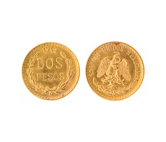 Extremely Rare Mexico Uncirculated Dos Pesos Gold Coin - Great Investment -