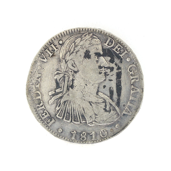Extremely Rare 1810 Eight Reale American First Silver Dollar Coin Great Investment