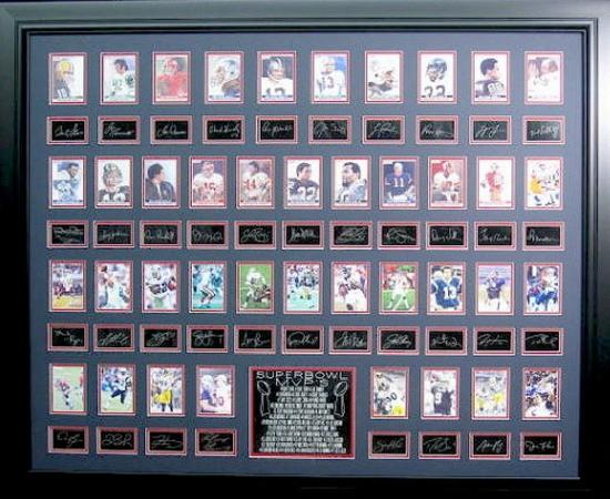 *Rare Super Bowl MVP's Museum Framed Collage - Plate Signed