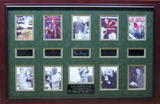 *Rare Golf Grand Slam Champions Museum Framed Collage - Plate Signed