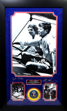 *Rare John F. Kennedy And Jacqueline Kennedy Museum Framed Collage - Plate Signed