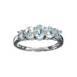 APP: 0.2k Fine Jewelry 1.91CT Oval Cut Blue Topaz And Sterling Silver Ring
