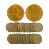 Rare (25) Assorted 1908-1958 Wheat Pennies Coin - Great Investment -