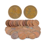 (50) 1910 to 1919 Wheat Penny Coins - Great Investment