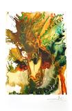 SALVADOR DALI Bucephale Print, I316 of 500