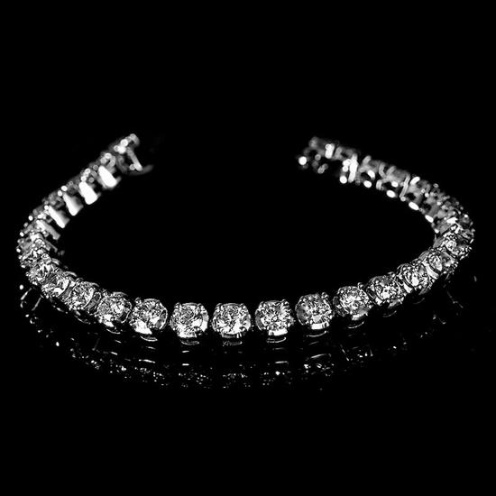 APP: 20.6k *Fine Jewelry 14KT. White Gold, 8.06CT Round Brilliant Cut Diamond Bracelet (VGN A-44)