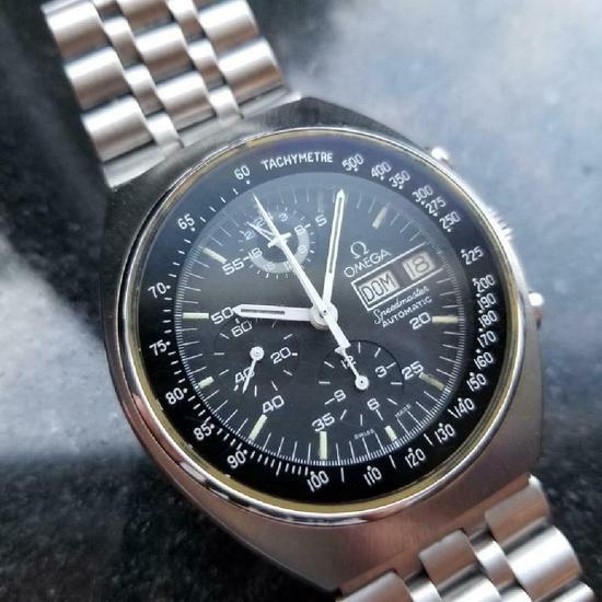 *OMEGA Men's Speedmaster Mark 4.5 Automatic 42mm c.1984 Swiss All Original Men's Watch -P-