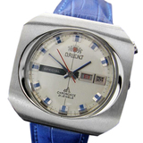 *Orient Chrono Ace Rare Vintage Mens Jumbo Day Date Automatic c1968 Watch -P-