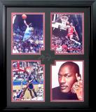 *Rare Michael Jordan Museum Framed Collage - Plate Signed