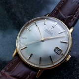 *OMEGA Gold-Capped Automatic w/Date c.1963 Swiss Vintage Men's Watch -P-