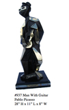 *Rare Limited Edition Numbered Bronze Picasso ''''Man with Guitar'''' 28'''' H x 11'''' L x 8'''' W