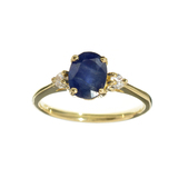 APP: 1k Fine Jewelry 14KT. Gold, 1.61CT Blue And White Sapphire Ring