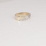 *Fine Jewelry 14 kt. Gold, New Custom Made 0.25CT Diamond One Of a Kind Ring (FJ F100)