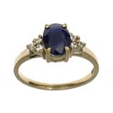 APP: 1.1k Fine Jewelry Designer Sebastian 14KT. Gold, 1.67CT Blue And White Sapphire Ring