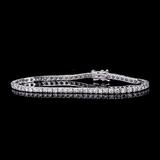 APP: 8.2k *Fine Jewelry 18KT. White Gold, Custom Made 4.03CT Round Brilliant Cut Diamond Tennis Brac