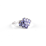 APP: 1.9k Fine Jewelry 1.80CT Oval Cut Tanzanite And Platinum Over Sterling Silver Ring