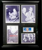 *Rare Frank Sinatra Museum Framed Collage - Plate Signed