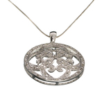 0.31CT Diamond and Sterling Silver Pendant with 18'' Chain