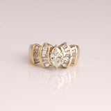 *Fine Jewelry 14 kt. Gold, New Custom Made 1.35CT Diamond One Of a Kind Ring (FJ F26)