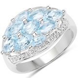 APP: 0.3k Gorgeous Sterling Silver 2.50CT Blue Topaz Ring App. $310 - Great Investment - Charming Pi