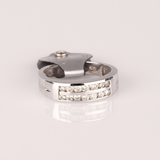*Fine Jewelry 14 kt. White Gold, New Custom Made, 0.47CT Diamond One Of a Kind Ring (FJ. 227)
