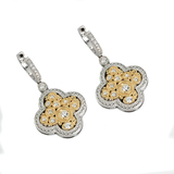 APP: 6.6k *Fine Jewelry 14KT. Two Tone Gold, .65CT Round Brilliant Cut Diamond Drop Earring (VGN A-6