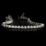 *Fine Jewelry 14KT. White Gold, 2.00CT Round Brilliant Cut Diamond Bracelet (VGN A-37) (Vault V)