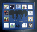 *Rare The Beatles Album Covers Museum Framed Collage - Plate Signed