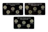 2005-2007 U.S. Rare P and D mint State Quarters Coins Set