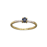 APP: 0.6k Fine Jewelry 14KT. Gold, 0.23CT Blue Sapphire And Diamond Ring