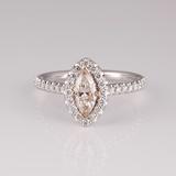 APP: 8.3k 14KT. Two Tone Gold, 1.14CT Diamond Ring (NG R11163)
