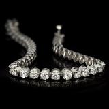 *Fine Jewelry 14KT. White Gold, 5.00CT Round Brilliant Cut Diamond Bracelet (VGN A-40) (Vault V)