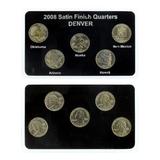 2008-D U.S. Commemorative (5pc) Quarters Satin Finish Edition Coins Set
