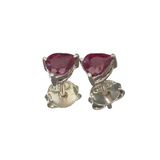 APP: 0.7k Fine Jewelry 0.50CT Pear Cut Ruby And Platinum Over Sterling Silver Earrings