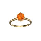 APP: 0.6k Fine Jewelry Designer Sebastian 14KT. Gold, 0.87CT Citrine And Diamond Ring