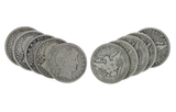 5 Rare Early Date U.S. Silver Barber Half Dollar Coins - Great Investment -