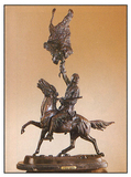 *Very Rare Small Buffalo Signal Bronze by Frederic Remington 14'''' x 10''''  -Great Investment- (SK